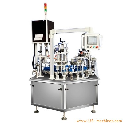 Automatic perfume oil liquid hexagon glass bottle filling capping machine with double filler heads 2 station capper line