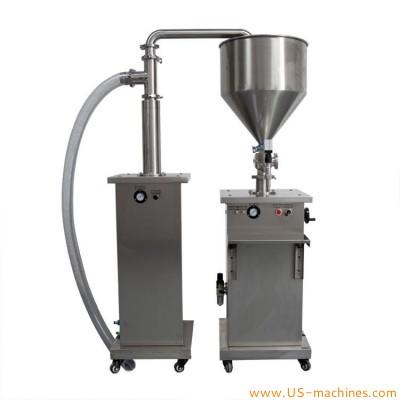 Semi automatic vertical type liquid paste cream food oil single nozzle filling machine with feeding pump refilling machine
