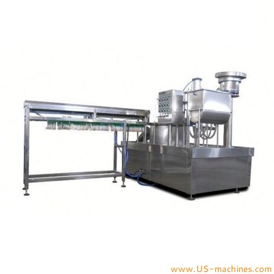 Automatic single nozzle premade stand bag rotary pouch filling capping machine for food juice yogurt milk beverage laundry detergent bags