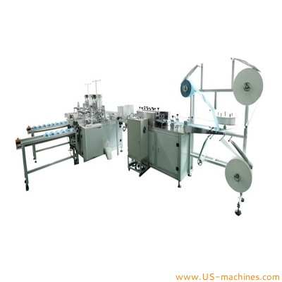 Automatic nonwoven fabric surgical face mask making folding produciton machine disposal medical mask production line for preventing coronavirus