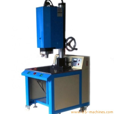 Semi automatic plastic part ultrasonice welding machine for plastic cup