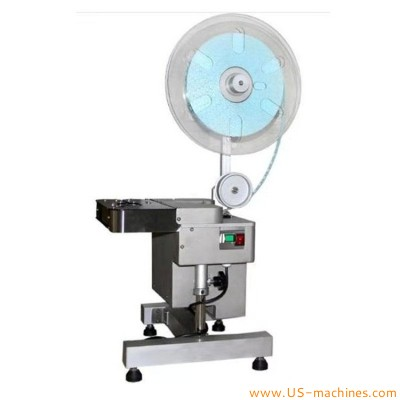 Semi automatic plastic bag buckle tying machine bag clip lock cutting sealing machine for candy bread fruit vegetable bags