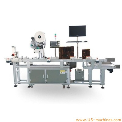 High-end customized automatic card real time printer laebling machine with visual inspection and rejection system