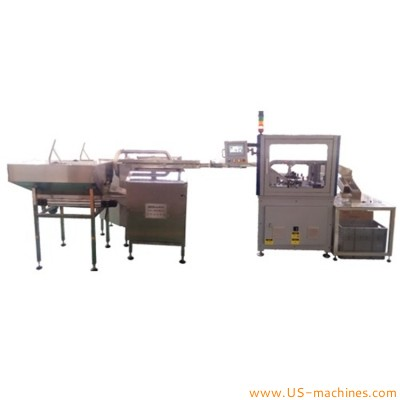 Automatic closure slitting machine cap slitting equipment