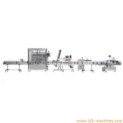 Automatic motor gear lubricant oil lube oil bottle bucket pail barrel filling capping sealing labeling machine