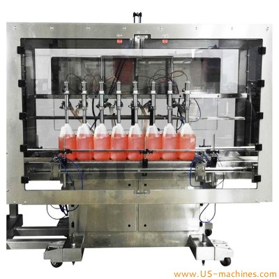 Automatic 8 nozzles gear pump liquid oil bottle barrel pail bucket filling machine cooking edible oil filling line customized filler