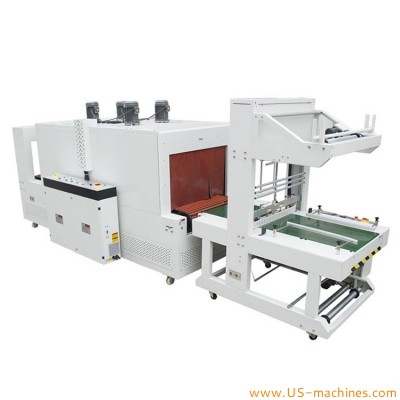 Automatic big product case carton box sleeve film wrapping shrinking sealing machine with high power heating sealing tunnel
