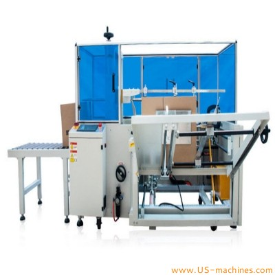 Automatic carton box case erecting forming machine case erector equipment box forming bottom tape sealing machine