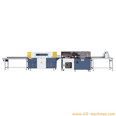 Automatic plastic film wrap sealing machine sleeve film wrap shrinking sealing packing machine for books case box carton