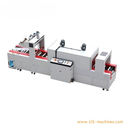 Automatic cable wire coils roll sleeve film wrapper shrinking sealing packing machine Circular copper coil spool film wrapping sealing line