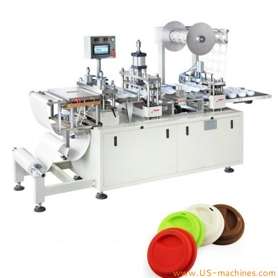 Automatic PP lid PET plasic cup lid paper cover forming making machine disposal coffee PS cup cover thermoforming forming making equipment