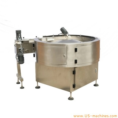 Automatic turntable type round bar candy biscuit sorting feeding machine nougat high speed sorting bowl equipment