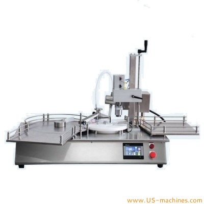Automatic mini type tabletop penicilline bottle ampoule liquid filling crimping sealing machine