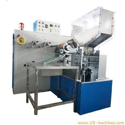 Automatic U shape straw flexible bend drinking straw row film wrapping packaging machine