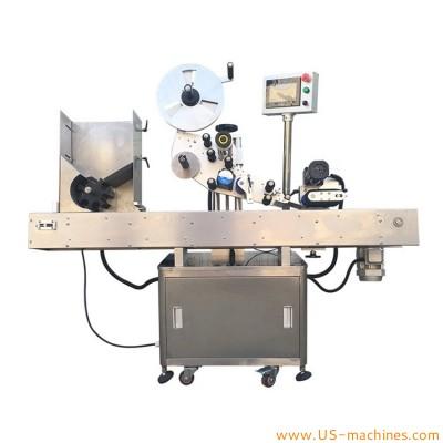 Automatic horizontal bottle labeling machine high speed labeling equipment with storage feeding tank