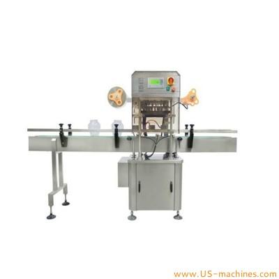 Automatic 2 nozzles bottle jar film heat sealing machine foil film cutting sealing machine