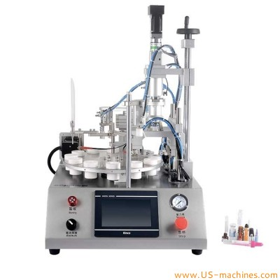 High accuracy desktop vial tube filling capping machine lab small dose tube bottle filling capping machine