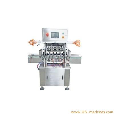 Automatic 8 heads bottle heating sealing machine foil film roll cutting heat bottle jar can sealing machine