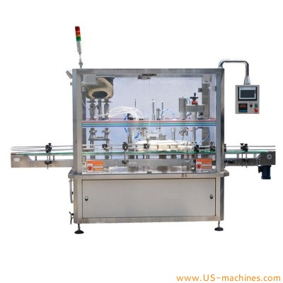 Automatic bottle rotary filling capping machine for cream paste sauce liquid oil with piston pump system
