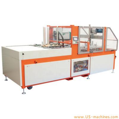 Automatic fruit tray case erecting folding making machine box carton tray forming erecting machine