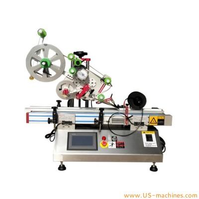 Automatic desktop flat surface labeling machine top flat labeling machine