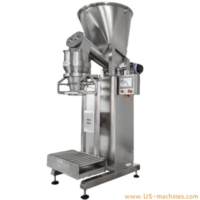 Semi automatic 5kg 10kg 20kg 25kg granule powder bag filling sealing machine