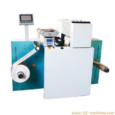 Automatic film roll to roll pattern embossing pressing machine label roll to roll embossing printer machine