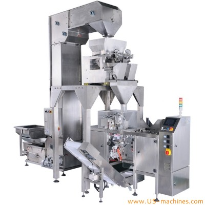 Automatic doypack bag premade pouch filling sealing machine with linear weighing system