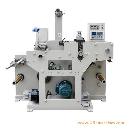 Automatic coreless adhesive label die cutting slitting machine label cutting winding machine slicing machine