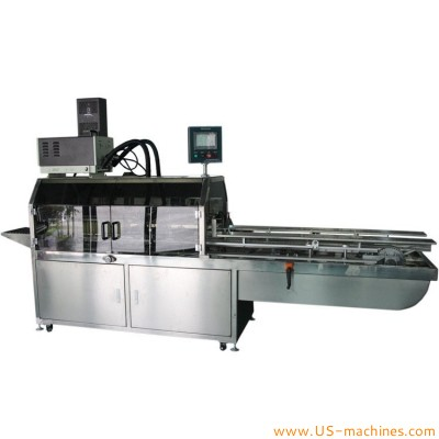 Automatic holt melt glue carton box sealing machine with glue heating tank dispensing system continue type box sealing line