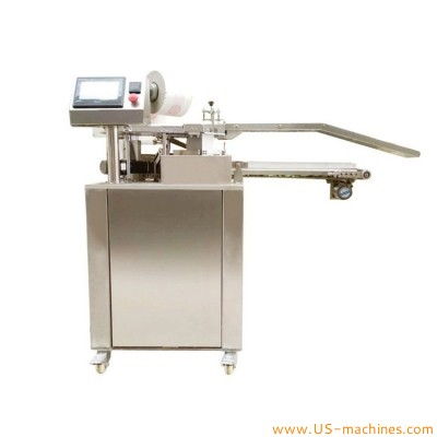 Automatic hamburger bread packaging film wrapping sealing packing machine