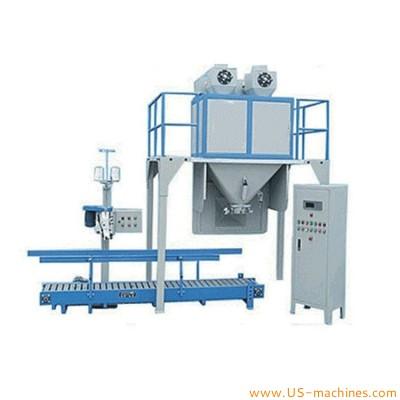 Semi automatic 50kg rice fodder bag granule filling machine