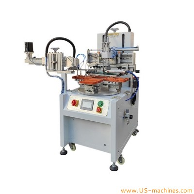 Automatic rotary toy parts screen printer machine turntable screen printing machine