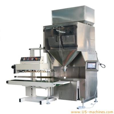 Semi automatic linear weighing heads granule filling machine