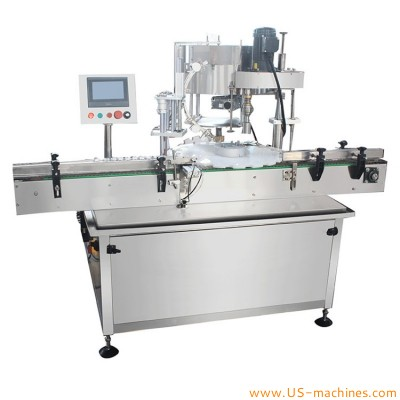 Automatic 3 in 1 bottle filling capping machine with single head