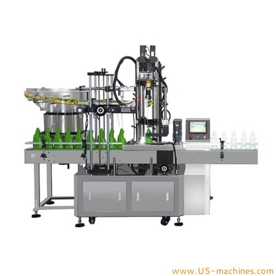 Automatic spray pump trigger bottle cap capping machine