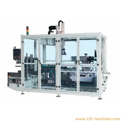 Automatic xyz type robot hand bottle pick cartoning machine 3 axis type robot hand bottle inserting box packing line