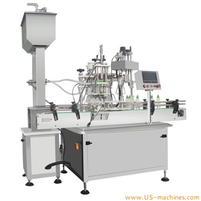 Automatic pump spray bottle filling capping machine rotary bottle filling capping line