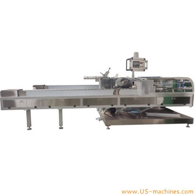 Automatic high speed cosmetic product cartoning machine carton box horizontal encasing machine