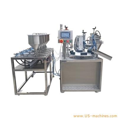 Autoamtic 5 linking small tube rotary filling sealing machine link soft tube liquid filling sealing machine