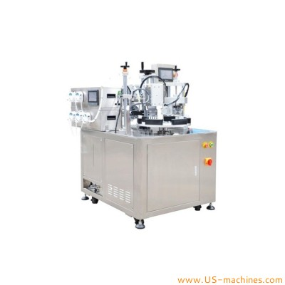 Automatic link soft tube rotary filling sealing machine turntable type 4/5 link tube liquid filling ultrasonic sealing machine
