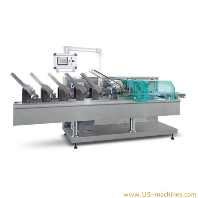 Automatic face mask bag counting feeding cartoning machine mask bag packing line