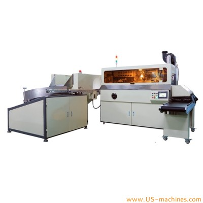 Automatic 1-8 color bottle silk printing machine